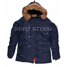 Парка Nord Storm Аляска N3B HUSKY navy/orange
